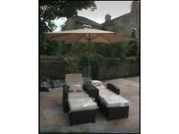 Rattan garden furniture