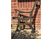 Cast iron heart pattern garden bench ends