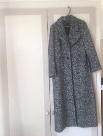 Long Woollen Coat - Size 14