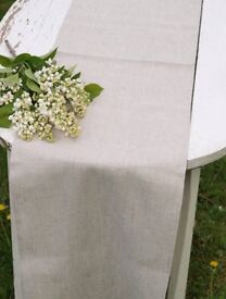 Taupe (light grey/Neutral) wedding linen table runner - 11 available