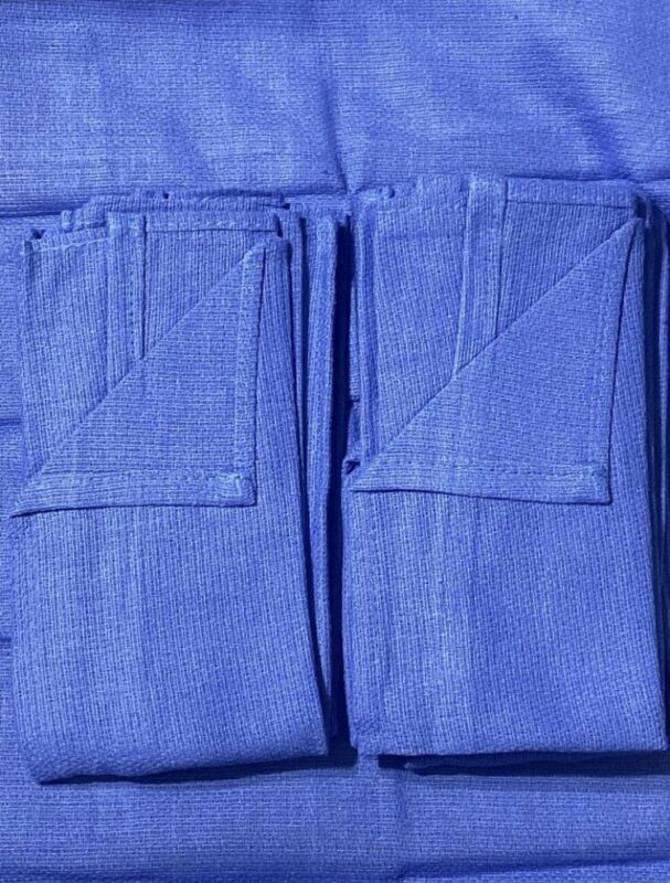 """Lot of 25 New Blue Surgical Huck Towels-100% cotton, 22"""" x 16"""", Machine Washable"""