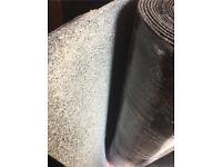Brand New Green Mineral Felt Torch On Felt Roll 12m x 1m