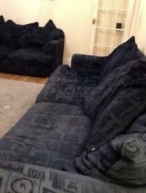 Sofas settees x2, one 3/4 seater & one 2/3 seater