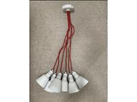 Red And White Spider Pendant Light