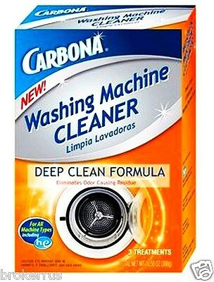 CARBONA Washer CLEANER Standard he WASHING MACHINE Deep Clean 3 Treatment 00484 He Washer Cleaner