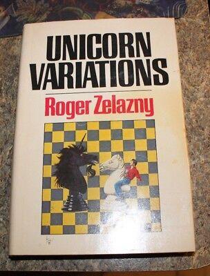 1983 Unicorn Variations by Roger Zelazny - science fiction sci fi HCDJ - f