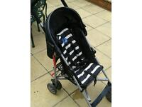 Babystart black and white pushchair