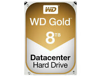 "New 8TB Western Digital WD Gold Datacenter 3.5"" Internal Hard Drive Sata 6 Gbps 7200rpm Sealed"