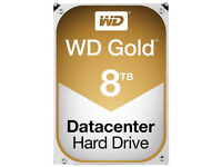 New 8TB Western Digital WD Gold Datacenter 3.5'' Internal Hard Drive Sata 6 Gbps 7200rpm Sealed