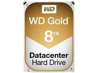 "New 8TB Western Digital WD Gold Datacenter 3.5"" Internal Hard Drive Sata 6 Gbps 7200rpm Sealed"