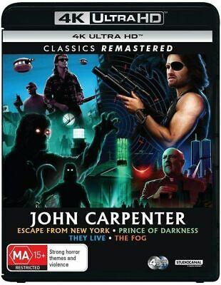 JOHN CARPENTER 4 Film Collection 4K UHD (Region Free) They Live The Fog