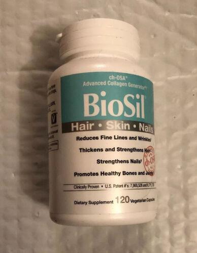 BioSil cH-OSA Advanced Collagen Hair Skin Nails Natural Factors 120 Capsules Veg