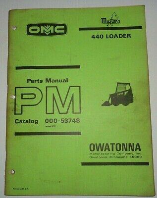 Omc Mustang 440 Skid Steer Loader Parts Manual Catalog Book 575 Original