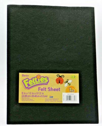 "Darice Felties 9"" x 12"" x 3mm Felt Sheet Black (1Pc)"