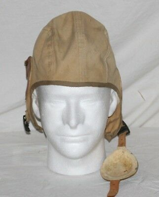 Ww2 U S  Army Air Corp Canvas Flight Helmet By Air Associates  Inc   Size  M