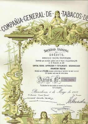 Cia. General de Tabacos de Filipinas, Barcelona 1982, deco