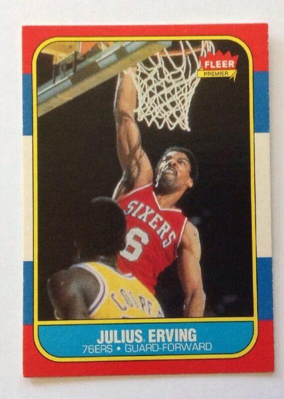 Julius Erving 1986-87 Fleer #31 76ers