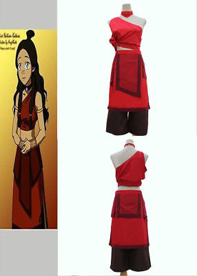 Avatar Fire Nation Katara Cosplay Costume Set# Free Shipping~~