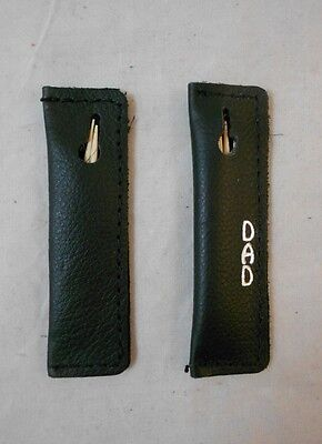 2  Leather Toothpick Holders, Soft Carrying Case, Carrier,  FREE -