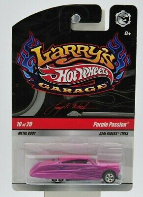"Hot Wheels 2008 Larry's Garage ""Purple Passion"" (signed) 10 of 20 ""NIP"" (pink)"