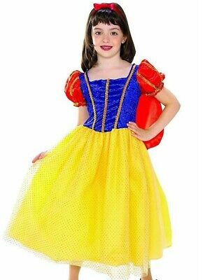Child Deluxe Snow White Costume Girls Toddler Disney Cottage Princess Dress