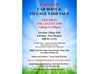 Earsham village car boot and yard sale on the 11th of August