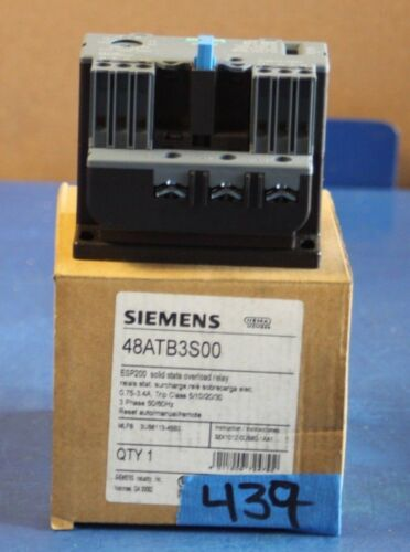 siemens 48ATB3S00 ESP200 solid state overload relay