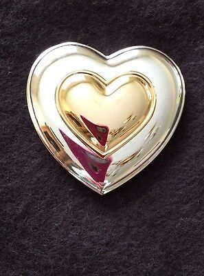 ESTEE LAUDER - White Linen - Solid Perfume Heart Shaped Metal Compact
