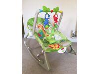 Fisher Price Rainforest Bouncer Rocker Baby Chair-Like New