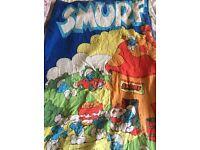 Vintage Smurf sleeping bag