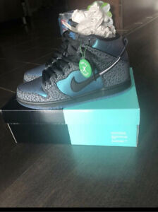 Nike SB dunks black ship hornet