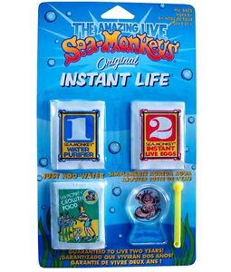 Instant Life THE AMAZING LIVE SEA MONKEYS Pets EGGS FOOD Aquarium Refill kit