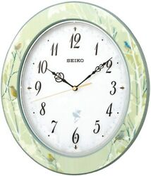 SEIKO CLOCK RX214M 12 Wild Birds Chirping Chime Forest Refreshing Japan DHL NEW