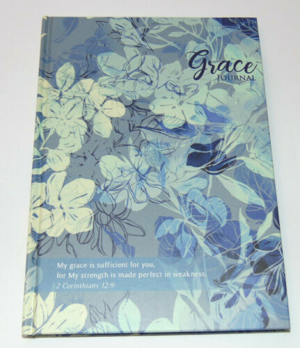 Christian Prayer Journal GRACE, Bible Scripture Verses on Lined Pages