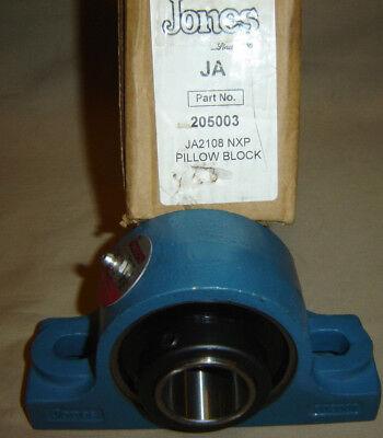 Jones 205003 Ja2108 Nxp Pillow Block Bearing 1-12 Shaft Flange Syr 1-12 New