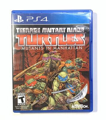 Teenage Mutant Ninja Turtles: Mutants in Manhattan (Sony PlayStation 4) PS4 NEW