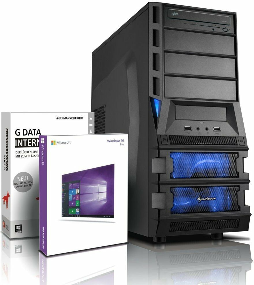 Ultra 6-Kern DX12 Gaming-PC Computer FX 6300 - GeForce GTX 1050 - Win10 - 8GB