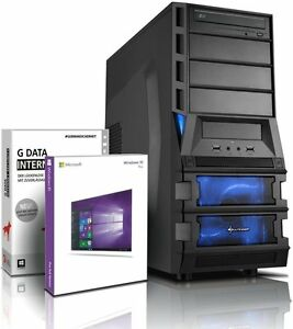 PC Quad Core Computer GAMER A8 7600 8GB 1TB Rechner Komplett Windows 10