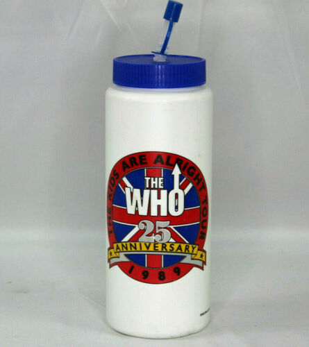 Vtg The Who 25 Anniversary Kids Are Alright Tour Official Water Bottle 1989 NEW