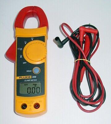 Fluke 322 Digital Ac Amp Clamp Meter Wac-dc Volt Resistance
