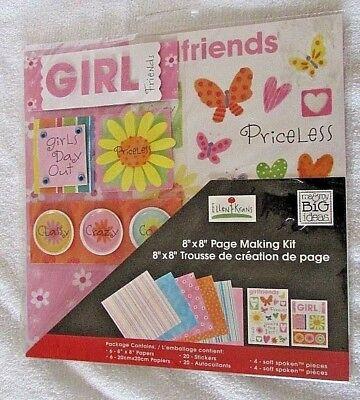 NIP 8 x 8 Page making Kit Ellen Krans Me & My Big Ideas Friends Big Ideas Page Kit