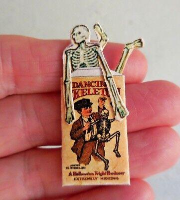 DOLLHOUSE MINIATURE ~ HALLOWEEN ~ DANCING SKELETON   - Dancing Skeletons Halloween