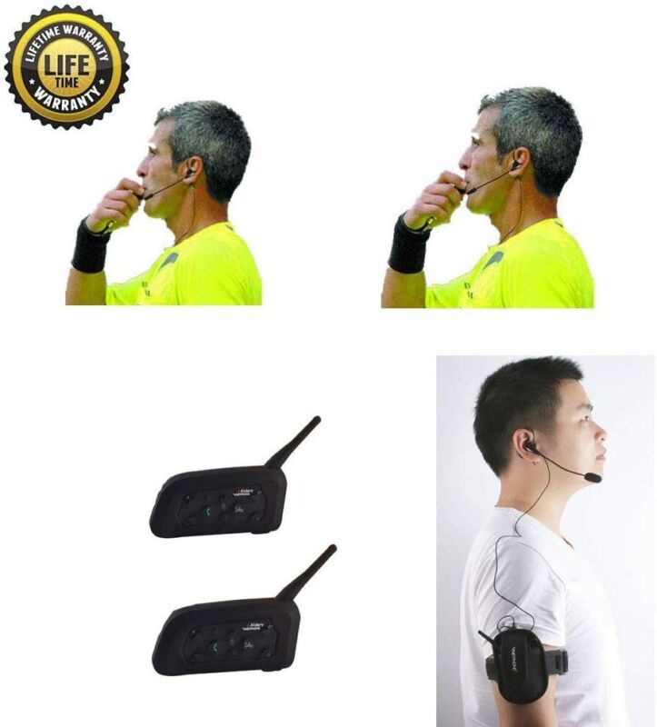 Referee Headset 2 Referees Talk Same time Football Communication Earphone
