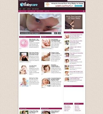 Babycare Blog Website With Affiliate Options New Free Domain Hosting