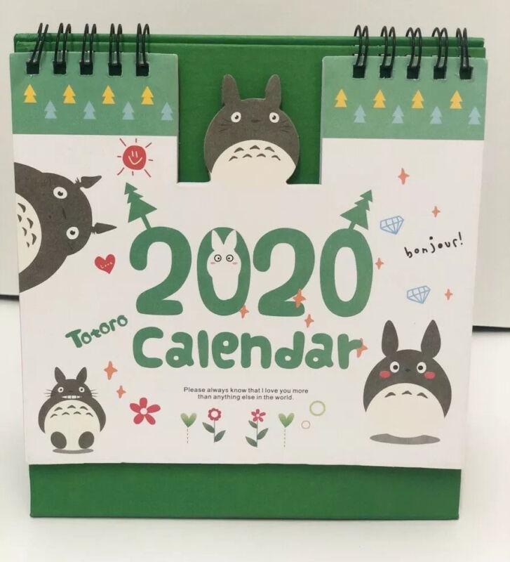 Totoro My Neighbour Studio Ghibli 2020 Desktop calendar Office Planner Christmas