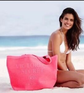 Victoria's Secret Terry Pink Beach Swim Tote Bag