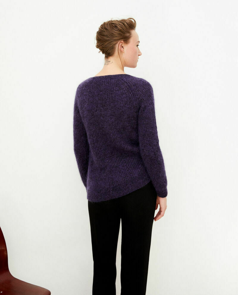 Pull comptoir des cotonniers taille m mohair violet xs