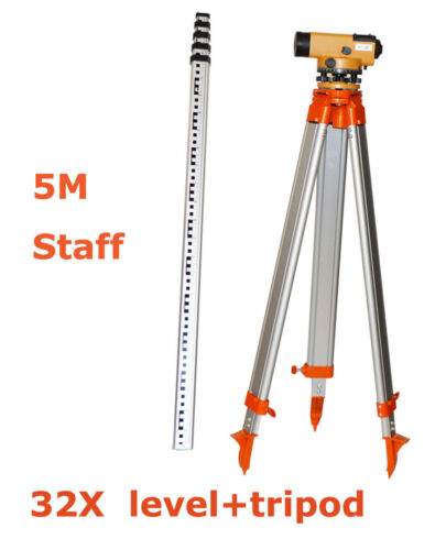 32 Times Mirror Optical Level Detector Level Surveying Equipment 5M Towers New