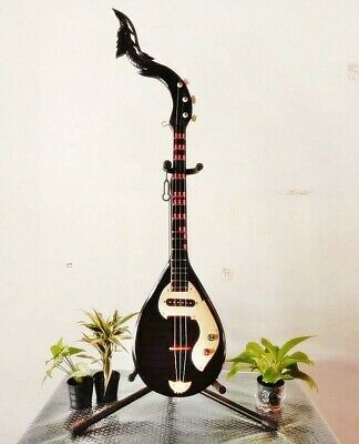 Guitar Phin swan head Thai Musical Instrument Handmade Electric wood good sound