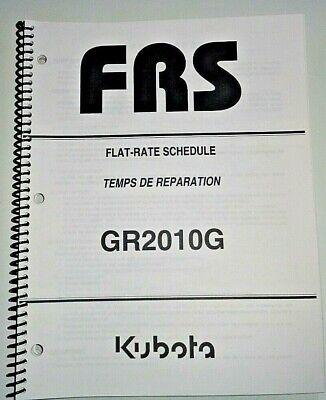 Kubota Gr2010g Lawn Garden Tractor Flat Rate Schedule Manual Oem 707